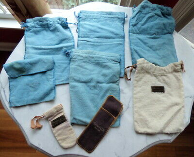 Lot of (8) Vintage TIFFANY & CO. NEW YORK Flannel Anti Tarnish Storage Pouches