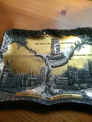 Antique Victorian Japanese Gilded Multi Metal card Tray