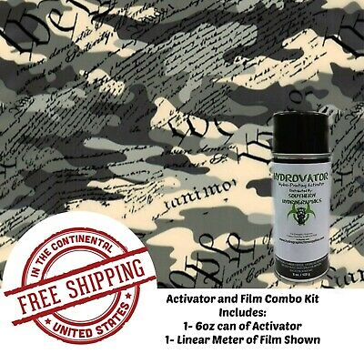 Hydrographic Water Transfer Film Hydro Dip Kit Activator & Film We The People