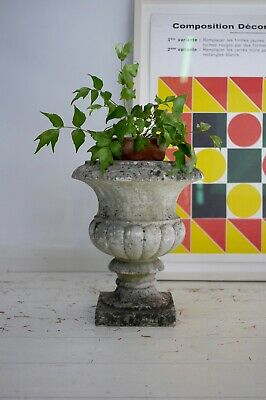 Antique Vintage Weathered Aged Marble Stone Garden Urn Finial Planter Pot B