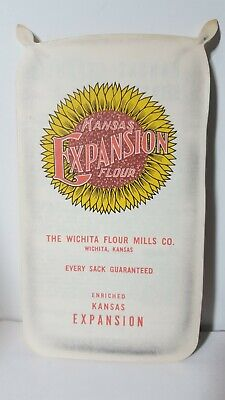 Vintage Kansas Expansion Flour Advertising Pamphlet Fold Out With Recipes