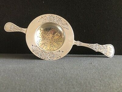 Antique German 800 Silver Tea Strainer