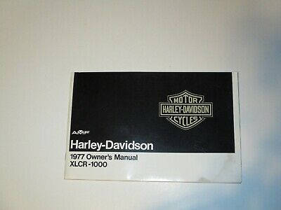 1977 Harley-Davidson XLCR - 1000 Owners Manual