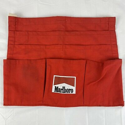 Vintage Marlboro Server Bartender Belt Apron 6 Pocket