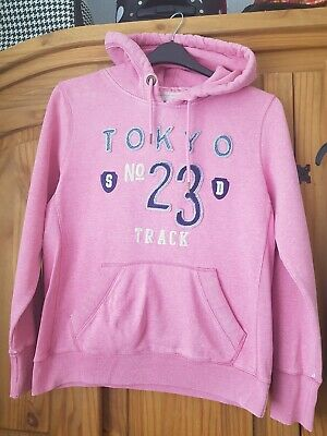Superdry Pink Hoodie Size Xl Childs Or 10 Adult. See Notes