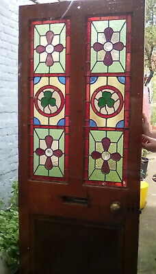 An Edwardian Stained Glass Front Door.