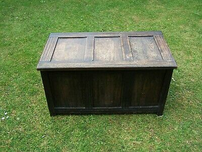 Vintage blanket chest trunk ottoman settle upcycle project