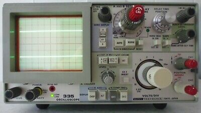 Tektronix Oscilloscope 335 : 35 Mhz Dual Channel : Excellent Working Condition