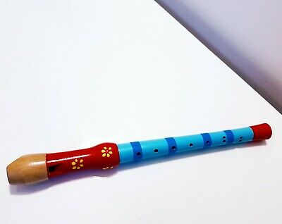 RECORDER FLUTE MUSIC Wooden Woodwind Childs Fun Musical Instrument  School SALE