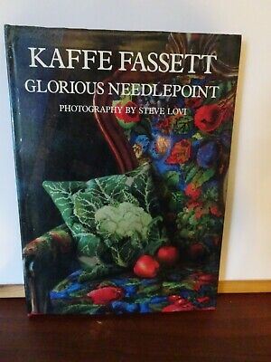 V .Good Hardback Book Glorious Needlepoint By Kaffe Fassett