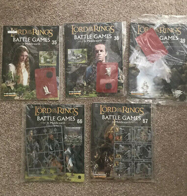 Lord of the Rings Job Lot Battle Games in Middle Earth Magazines with Figurines