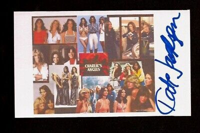 KATE JACKSON Signed 3x5 Index Card - CHARLIES ANGELES
