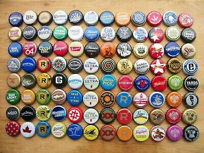 96 Assorted Beer Bottle Cap's All Diffrent (No Dents) (Crafts)