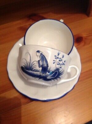 Luneville Cups and Saucers - set Of 2