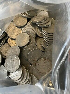 4.9 LB  Of OLD MEXICAN COIN LOT - 50 CENTAVOS Coins
