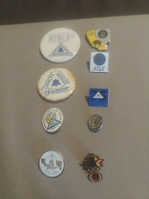 VINTAGE LOT 9 BELL SYSTEM, AT&T TELEPHONE PIONEERS OF AMERICA PINS/Buttons