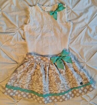 Girls Dolce Petit Top And Skirt Set 5 6 Years