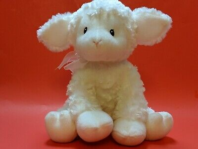 Baby GUND LITTLE BLESSING White Lamb Lena Musical Brahms Lullaby Wine Up Toy
