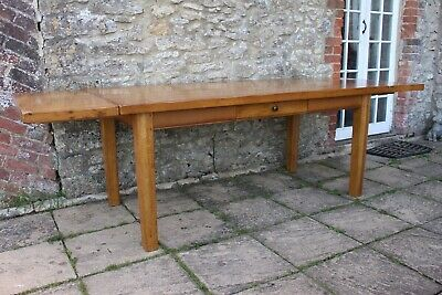 Grand 9.1ft / 280cm Vintage Solid Oak French Farmhouse Refectory Table