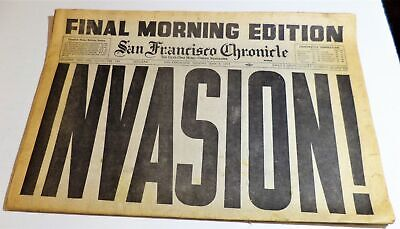June 6, 1944 San Francisco Chronicle Final Morning Edition D Day Invasion
