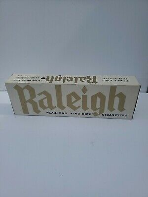 Vintage Cigarettes Pack Carton Sleeve Empty Raleigh Tobacco Advertising 1 of 3
