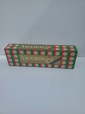 Vintage Cigarette Pack Empty Carton Viceroy Crush Proof Box Tobacco Display