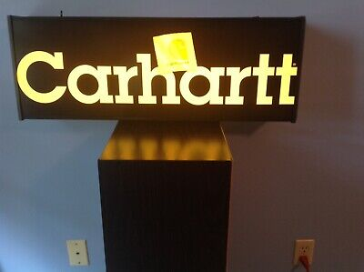 Carhartt Lighted Dealer Advertisement Store Display Sign great condition used