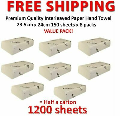 1200 sheets 1/2carton Premium Quality Interleaved Paper Hand Towel  23.5cmx24cm