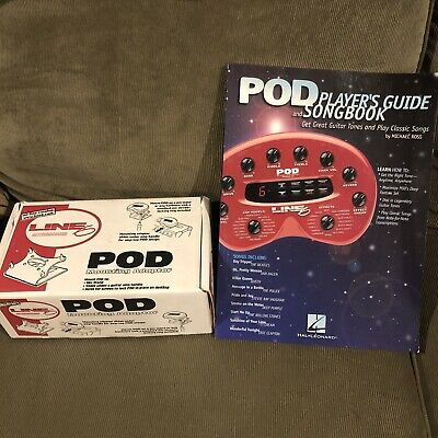 Line 6 POD 2.0 POD XT Bass POD Mounting Adaptor and Player's Guide Songbook
