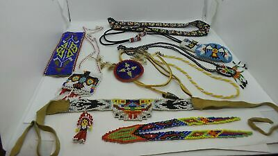 Native American Beaded Jewelery & Bag & Other Items Collection