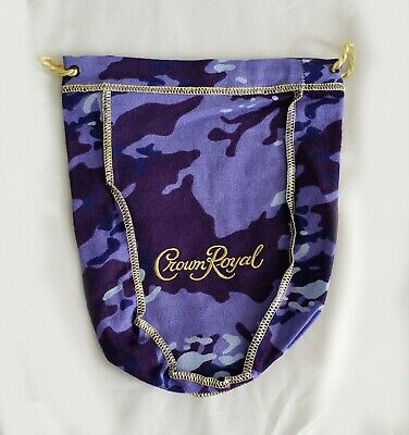 NEW Purple Camo CROWN ROYAL Collector's Bottle BAG Pouch ONLY