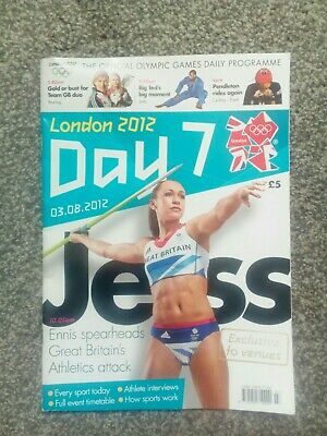 London 2012 official Daily Programme Day 7 Jessica Ennis