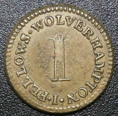 "School reward token - ""1"" George IV (1826) Fellows Wolverhampton - Hawkins#0801"