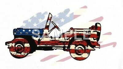 Jeep iron on or sublimation transfer (choice)