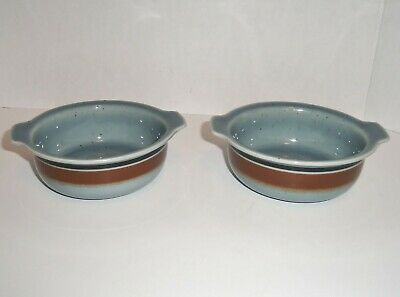 Set 2 ARABIA Finland MERI Lugged Handle Cereal Bowls