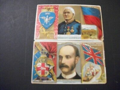 1889 Duke Honest Long Cut Cigarette Tobacco Cards Rulers Flags Coats Of Arms