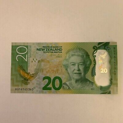 New Zealand Polymer $20 Banknote - 20 Dollar - UNC - Series 7