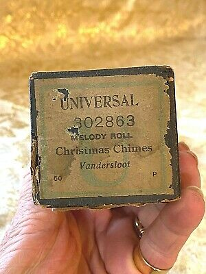 """Universal Player Piano Roll  """"Christmas Chimes"""" No.302863.  Good Condition."""
