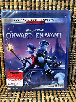 Onward (3-Disc Blu-ray/DVD, 2020)Disney/Pixar.Chris Pratt/Tom Holland/Family/Kid