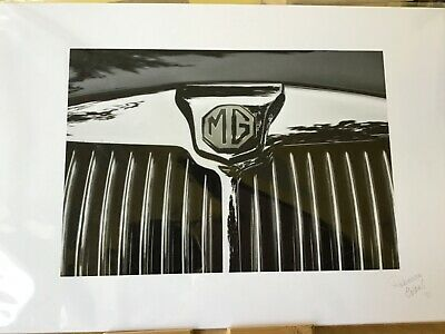 MG British Sports Car Grill Signed Print Rebeca Evans 11