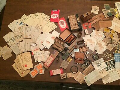 Lot Vintage Dental Ads Tins Price Guides, Medicine, Cement, Apothecary, Booklets