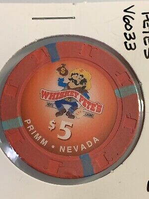 WHISKEY PETE'S $5 Casino Chips PRIMM Nevada 3.99 Shipping