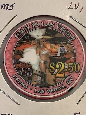 PALMS $2.50 Casino Chip Las Vegas Nevada 3.99 Shipping