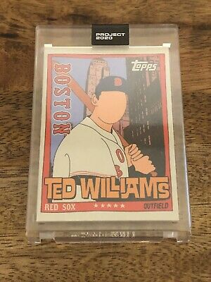 Topps Project 2020 Card #34 1954 Ted Williams by Fucci With Box Print Run: 1131