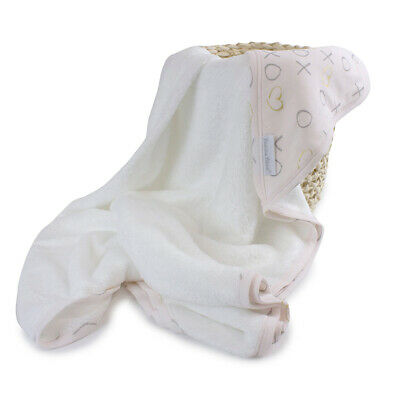 NEW Bubba Blue Pink Bloom Bamboo Hooded Towel