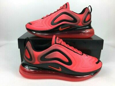 Nike Air Max 720 Running Casual Shoes Crimson Red Black Men's Size 9.5 NEW