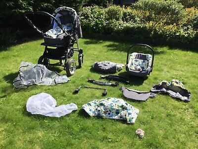 baby merc 3 in 1 travel system pram /carseat / pushchair /stroller