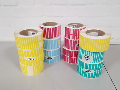 12x Multi-Color Labeling Tapes (Yellow, Magenta, Blue, Green Stickers)