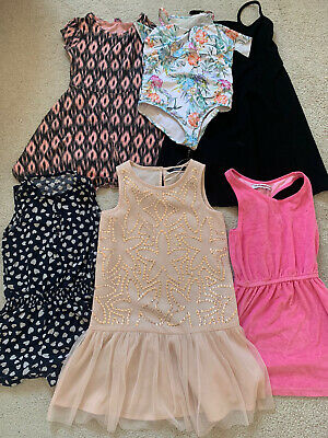 Girls Age 7-8 Summer Bundle, Dresses, Jumpsuits, River Island Swimming Costume
