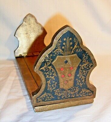 VICTORIAN GILT BOOK SLIDE/STAND. 15 x 4.75 inches